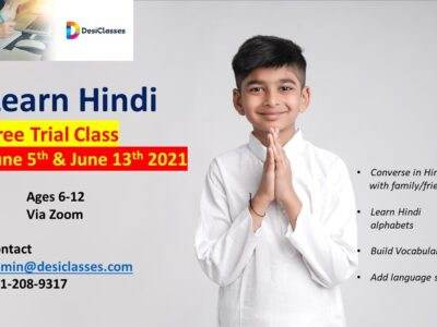 Inroduction to Hindi Beginners  – July 2021